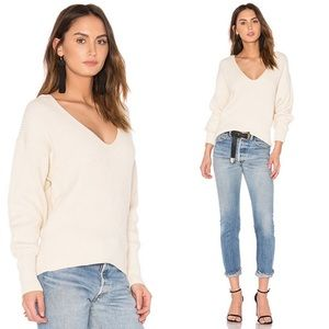 Free People Allure Pullover V-Neck Knit Sweater
